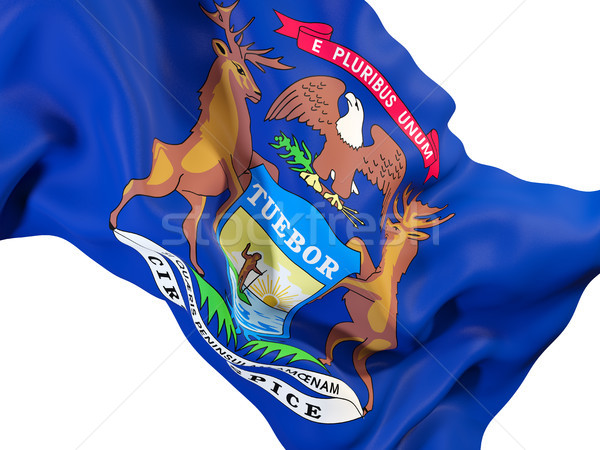 michigan state flag close up. United states local flags Stock photo © MikhailMishchenko