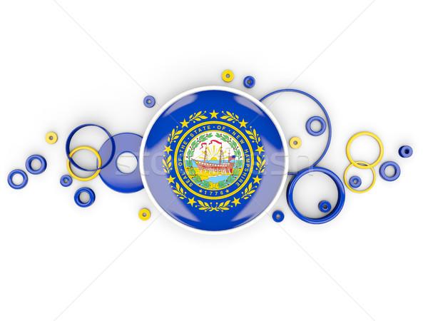 Stok fotoğraf: Bayrak · New · Hampshire · circles · model · Amerika · Birleşik · Devletleri · yerel
