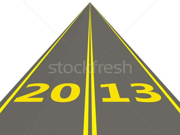 2013 New Year on the road Stock photo © MikhailMishchenko