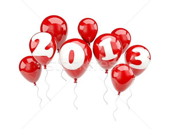 Lucht ballonnen 2013 nieuwjaar teken ballon Stockfoto © MikhailMishchenko