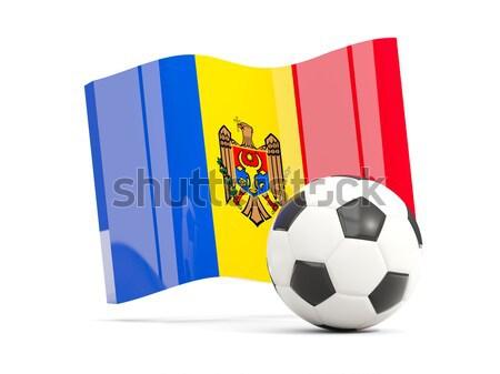 Zászló Moldova futball csapat vidék Stock fotó © MikhailMishchenko