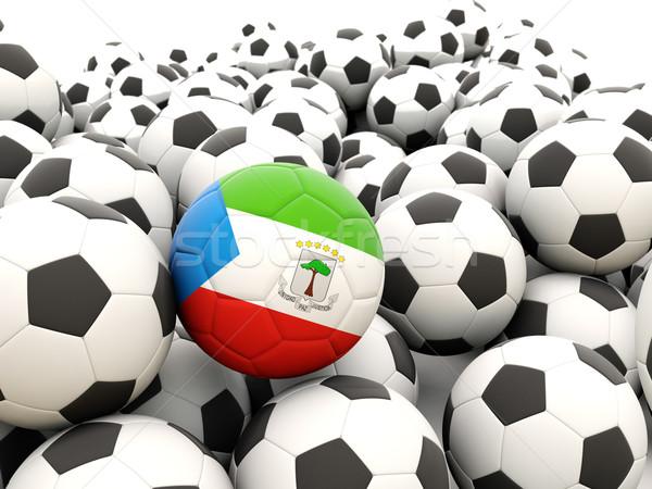 Futebol bandeira Guiné Equatorial regular verão Foto stock © MikhailMishchenko