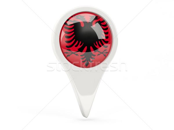 Round flag icon of albania Stock photo © MikhailMishchenko