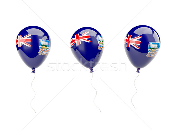 Air balloons with flag of falkland islands Stock photo © MikhailMishchenko