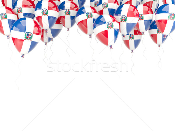 Balloon frame with flag of dominican republic Stock photo © MikhailMishchenko