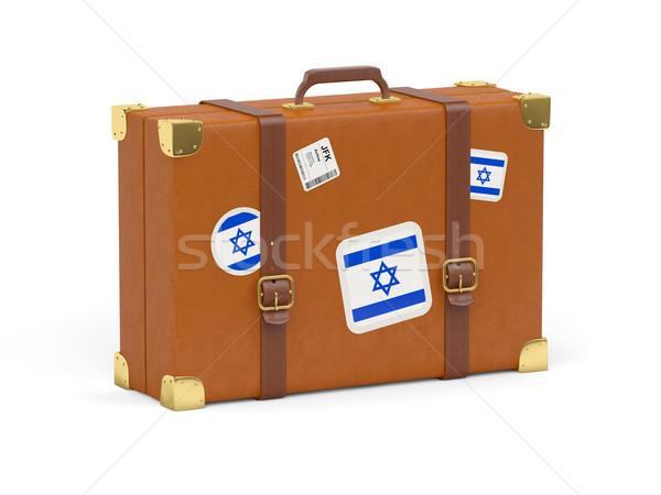 чемодан флаг Израиль путешествия изолированный белый Сток-фото © MikhailMishchenko