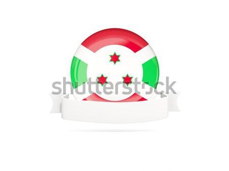 ícone bandeira Burundi isolado branco viajar Foto stock © MikhailMishchenko