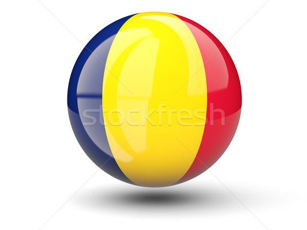 Round icon of flag of chad Stock photo © MikhailMishchenko