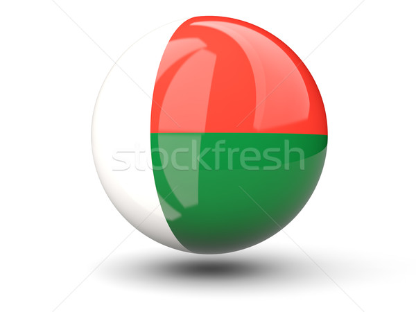 Round icon of flag of madagascar Stock photo © MikhailMishchenko