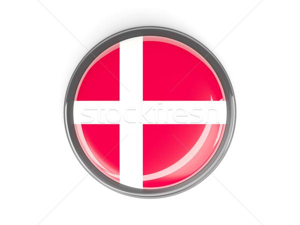 Round button with flag of denmark Stock photo © MikhailMishchenko