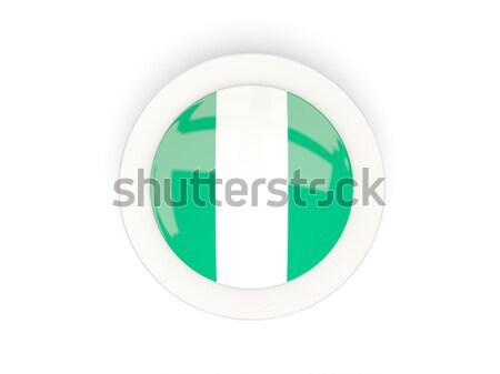 ícone bandeira Nigéria metal quadro viajar Foto stock © MikhailMishchenko