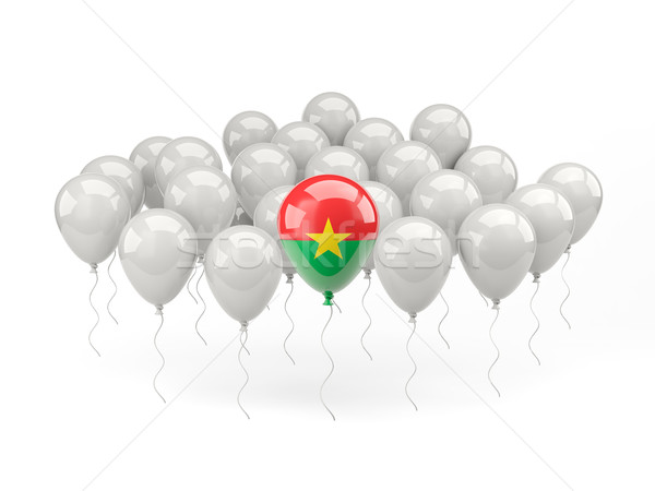 Air balloons with flag of burkina faso Stock photo © MikhailMishchenko