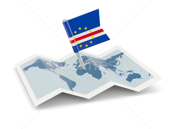 Map with flag of cape verde Stock photo © MikhailMishchenko