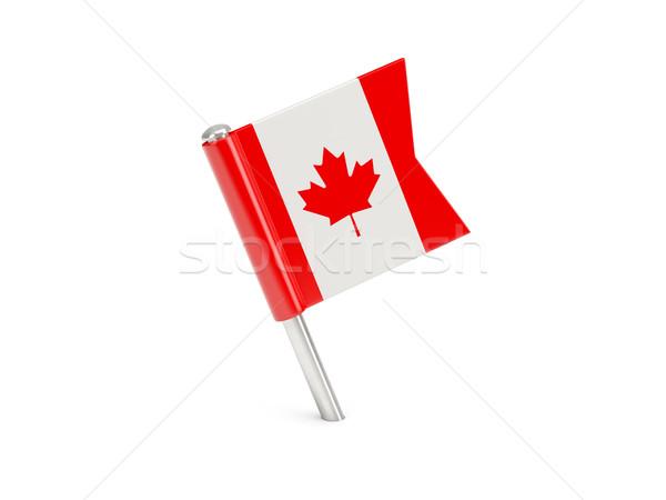 Flag pin of canada Stock photo © MikhailMishchenko