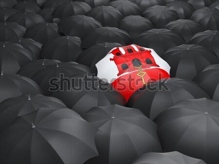 зонтик флаг Ангола черный путешествия Сток-фото © MikhailMishchenko