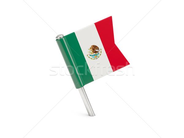 Flag pin of mexico Stock photo © MikhailMishchenko