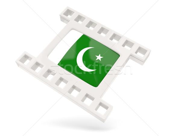 Film ikon bayrak Pakistan yalıtılmış beyaz Stok fotoğraf © MikhailMishchenko