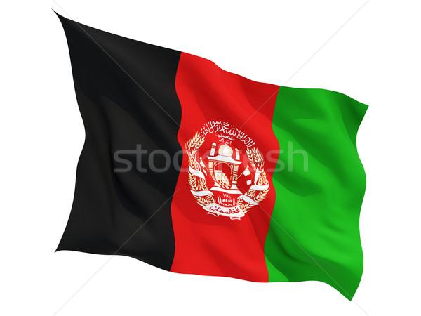 Bandeira Afeganistão isolado branco Foto stock © MikhailMishchenko