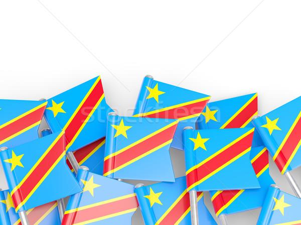 Zászló tő demokratikus köztársaság Kongó izolált Stock fotó © MikhailMishchenko