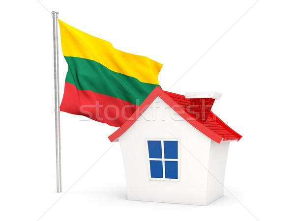 House with flag of lithuania Stock photo © MikhailMishchenko