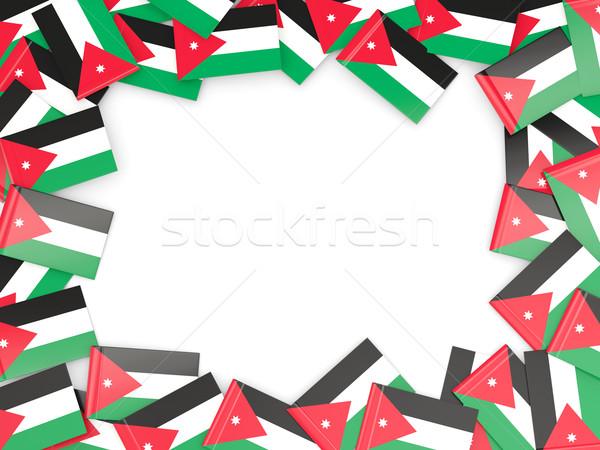 Ramki banderą Jordania odizolowany biały Zdjęcia stock © MikhailMishchenko