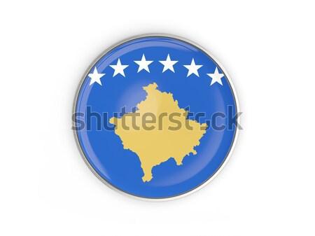 ícone bandeira Kosovo assinar branco Foto stock © MikhailMishchenko