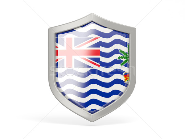 Shield icon with flag of british indian ocean territory Stock photo © MikhailMishchenko
