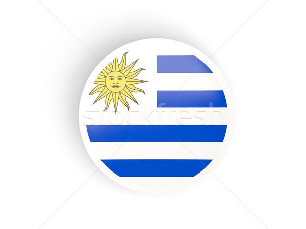 наклейку флаг Уругвай изолированный белый путешествия Сток-фото © MikhailMishchenko