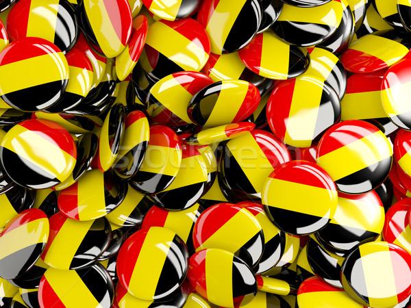 Bandera Bélgica fondo país pin círculo Foto stock © MikhailMishchenko
