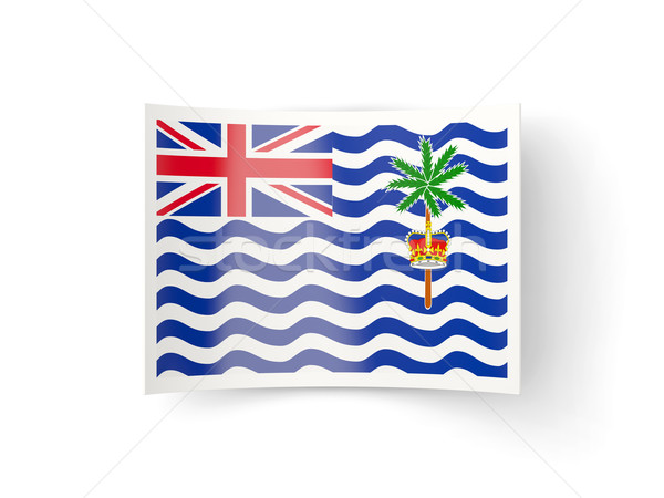 Bent icon with flag of british indian ocean territory Stock photo © MikhailMishchenko