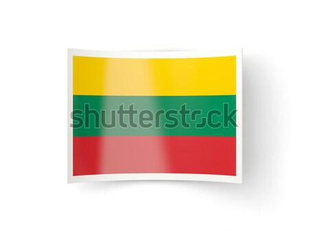 Stock photo: Bent icon with flag of lithuania