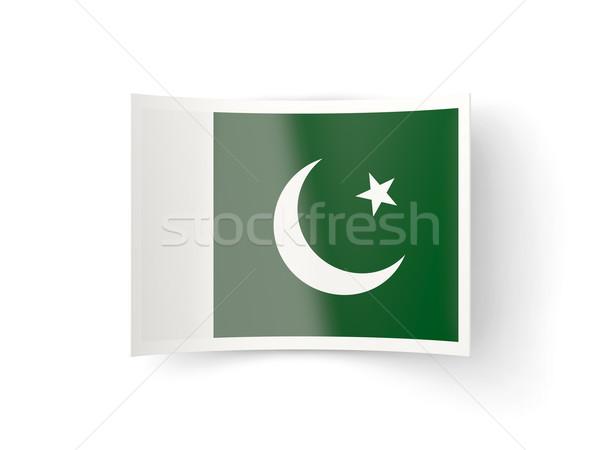 Ikon zászló Pakisztán izolált fehér vidék Stock fotó © MikhailMishchenko