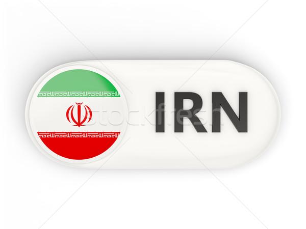 Ikon zászló Irán iso kód vidék Stock fotó © MikhailMishchenko