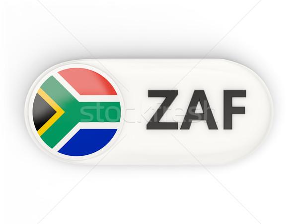 ícone bandeira África do Sul iso código assinar Foto stock © MikhailMishchenko