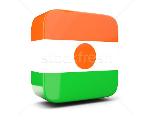 Piazza icona bandiera Niger illustrazione 3d isolato Foto d'archivio © MikhailMishchenko