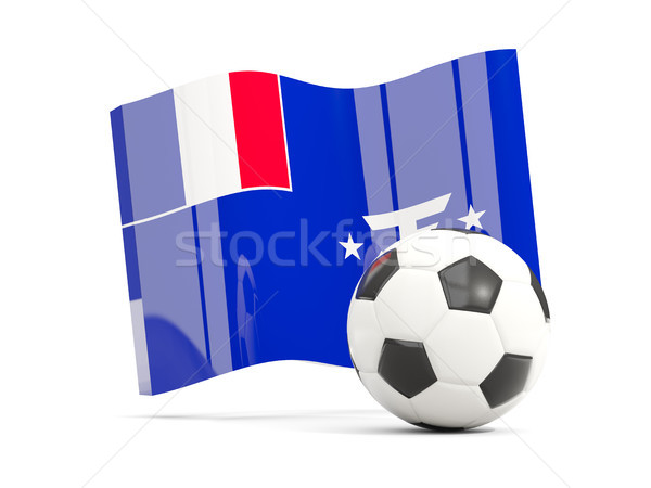 Football with waving flag of french southern territories isolate Stock photo © MikhailMishchenko