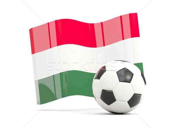 Football with waving flag of hungary isolated on white Stock photo © MikhailMishchenko