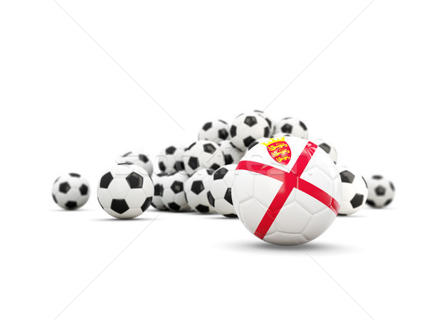Football with flag of jersey isolated on white Stock photo © MikhailMishchenko