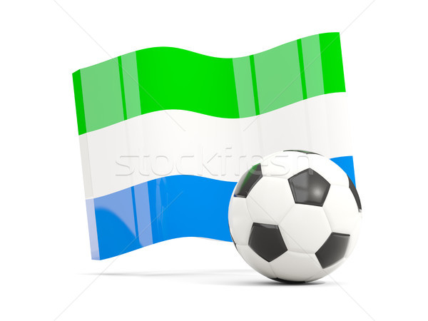 Football with waving flag of sierra leone isolated on white Stock photo © MikhailMishchenko