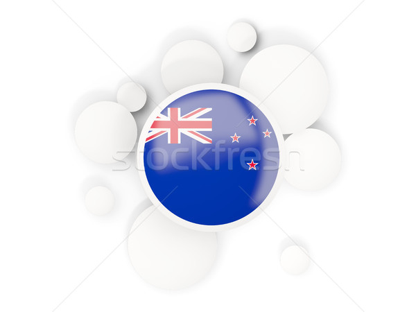 Round flag of new zealand with circles pattern Stock photo © MikhailMishchenko