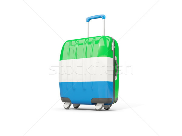 Luggage with flag of sierra leone. Suitcase isolated on white Stock photo © MikhailMishchenko