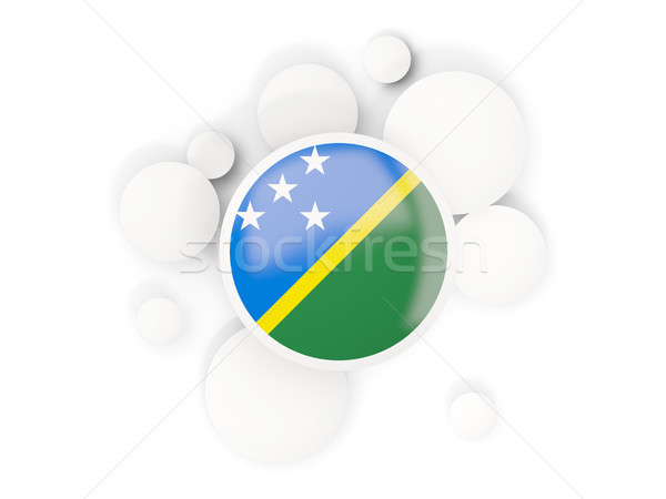 Round flag of solomon islands with circles pattern Stock photo © MikhailMishchenko