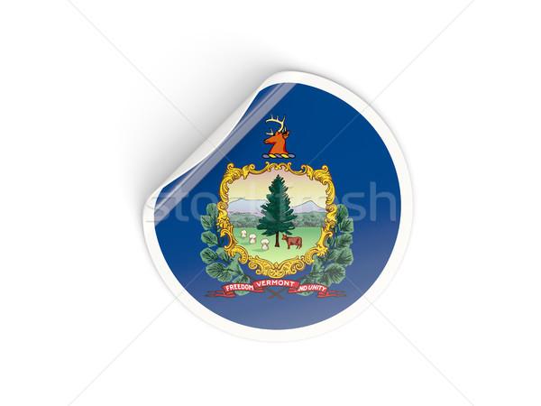 Bandeira adesivo isolado branco ilustração 3d américa Foto stock © MikhailMishchenko