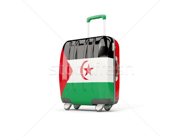 Stock fotó: Csomagok · zászló · western · Szahara · bőrönd · izolált