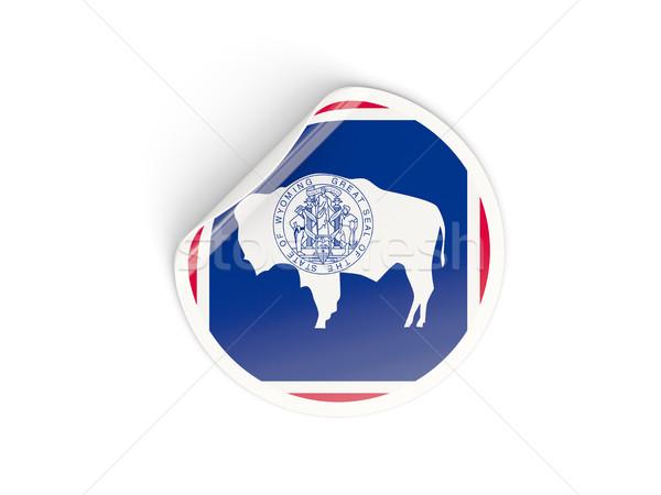 Bandera etiqueta aislado blanco 3d América Foto stock © MikhailMishchenko