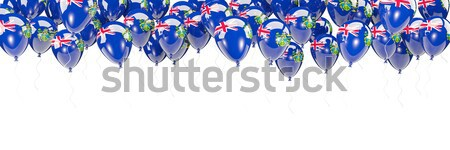Balloons frame with flag of british indian ocean territory stock ...