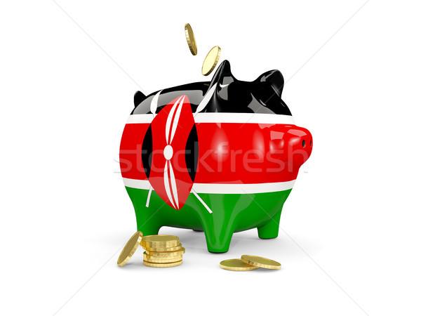 Yağ kumbara Kenya para yalıtılmış beyaz Stok fotoğraf © MikhailMishchenko