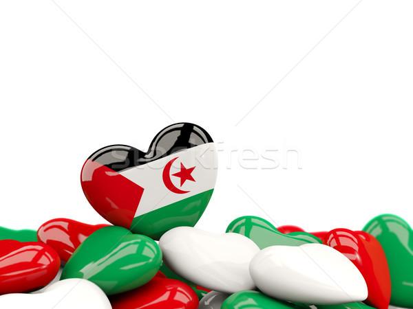 Hart vlag westerse sahara top harten Stockfoto © MikhailMishchenko