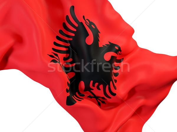 Waving flag of albania Stock photo © MikhailMishchenko