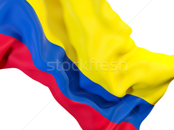 Stockfoto: Vlag · Colombia · 3d · illustration · reizen